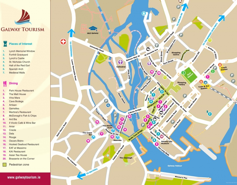 Galway City Street Map